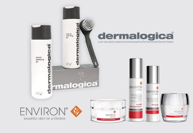 salon brands Dermalogica, Environ